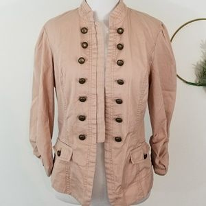 Maurices Medium Military Style Blush Blazer